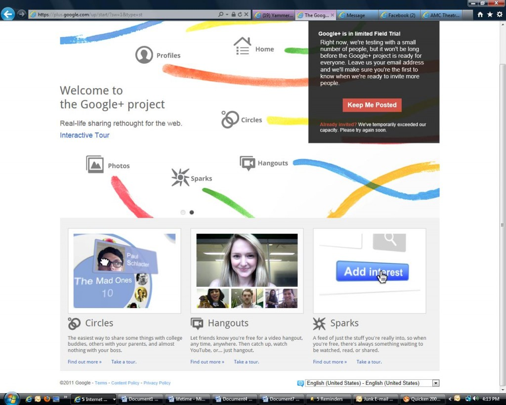 GooglePlus first look