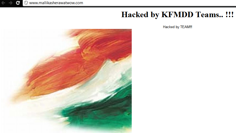 Mallika Sherawat Official Website Hacked