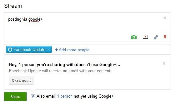 autopost facebook to google+