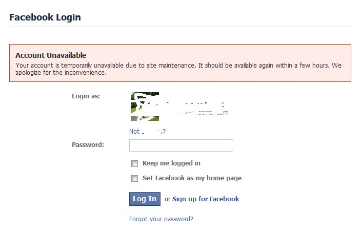 facebook is downtime