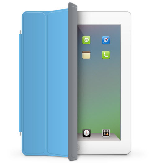 ipad 2 with smart cover Drawing Realistic iPad2 in Photoshop
