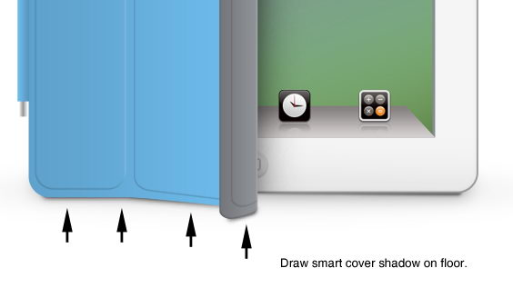 tutorial ipad2 57 Drawing Realistic iPad2 in Photoshop