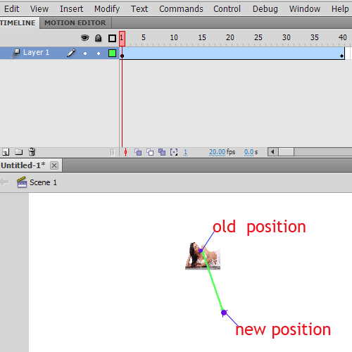 flash animation path