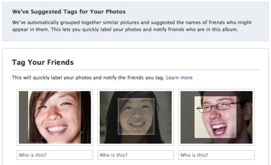 Facebook's facial recognition system