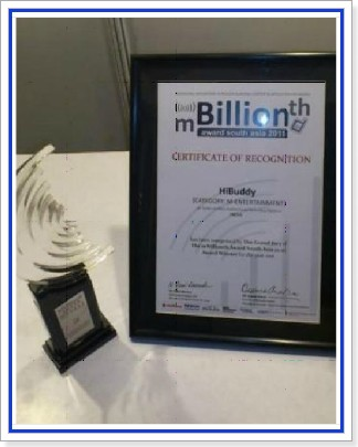 Hibuddy wins mBillionth 2011 award