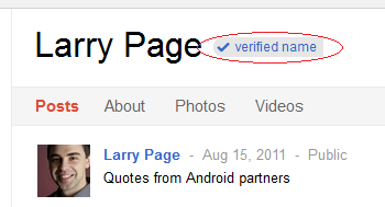 google +verification badge