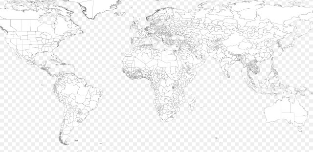Best Free High Quality Vector World Maps Ai Eps And Svg - A blank map of the world