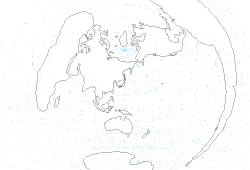 "Blank map of the World map ""Tokyo/Japan centered"""
