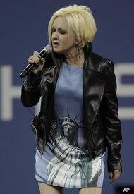 Cyndi Lauper performance us open photos