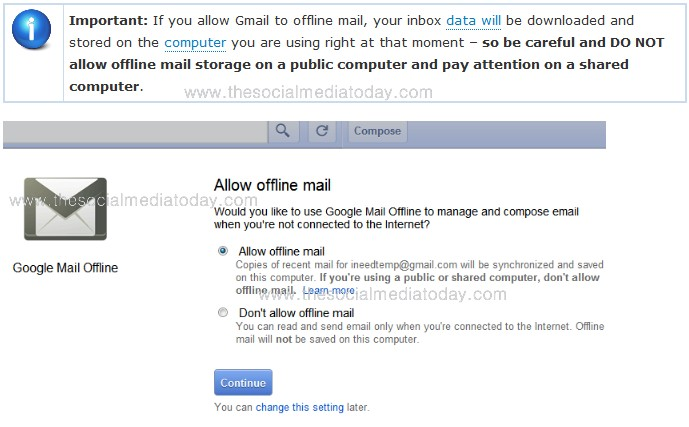 tips to use gmail offline