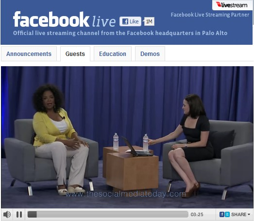 Oprah Winfrey chats on Facebook Live talk show highlights Video