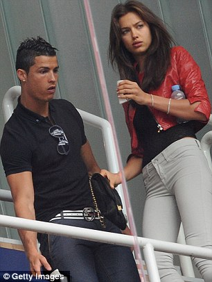 Happy together: Irina has been dating Real Madrid footballer since last spring