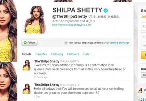 shilpa shetty is pregnant tweets