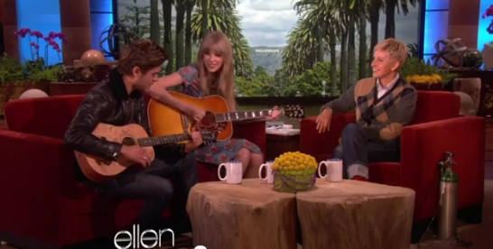 "Taylor Swift and Zac Efron in ""The Ellen DeGeneres Show"" Youtube video"
