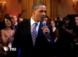 President Obama sings Sweet Home Chicago!