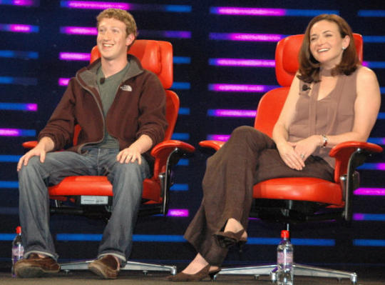 sheryl-sandberg and Mark Zuckerberg Facebook Photo