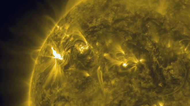 solar flare image released by NASA