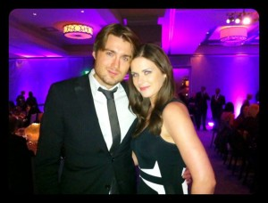 Pete Cashmore and Lisa Bettany at Cosmopolitan Resort & Casino.