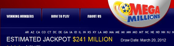 MEGA Millions jackpot $241 million lucky number