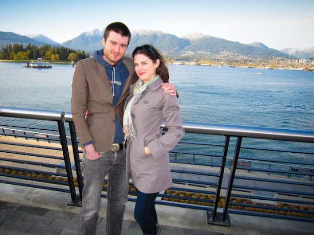 Pete Cashmore and his girlfriend, Lisa Bettany in Vancouver. Lisa's actually from Canada.