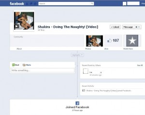 facebook scam: Shakira doing naught video