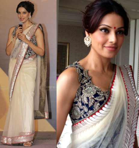 Bipasha Basu in transparent Sari