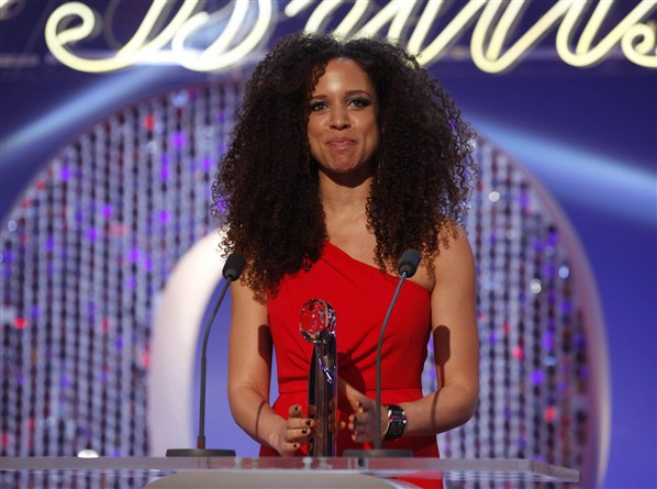 Natalie Gumede at British Soap Awards