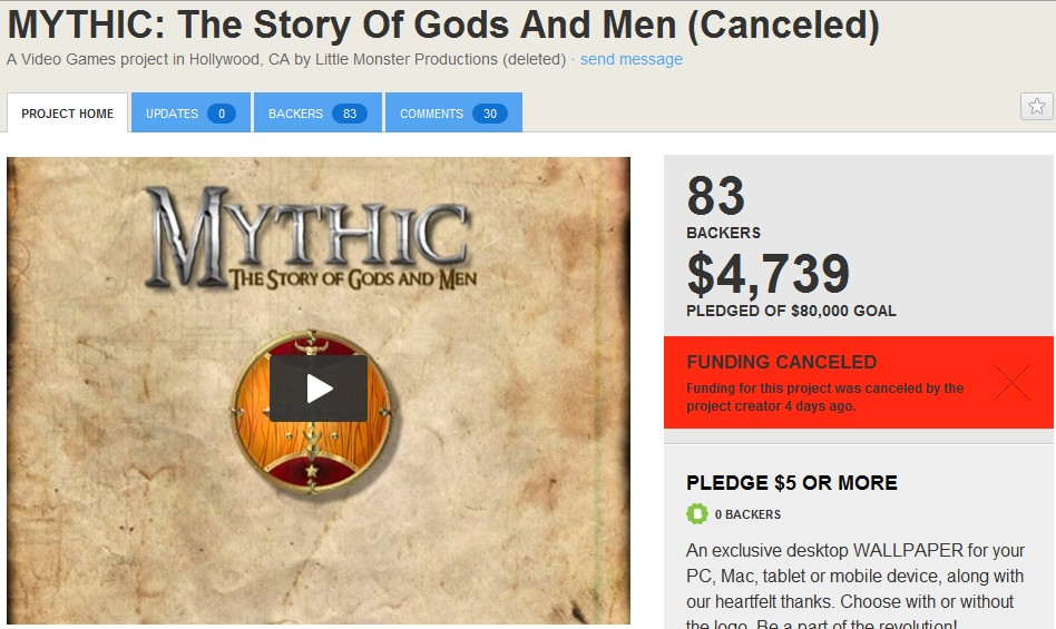 MYTHIC: The Story Of Gods And Men is Scam