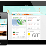 Google Now on your iPhone and iPad, with the Google Search app.