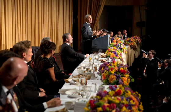 First Lady Michelle Obama attended the dinner with the President.
