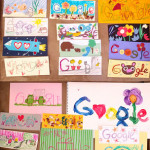 Mother's day google logo card