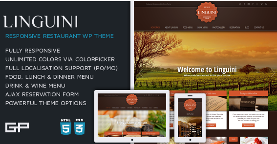 download Linguini WordPress Theme free