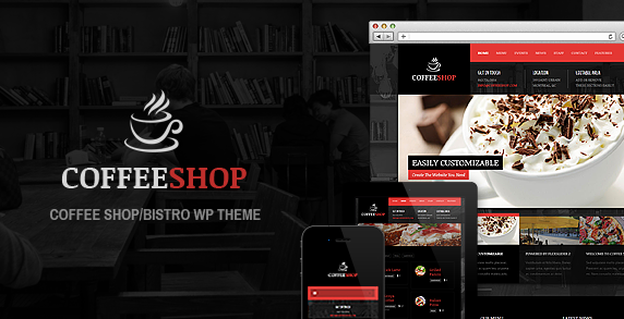 download free coffee shop theme