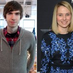 Tumblr founder David Karp and Yahoo CEO Marissa Mayer.