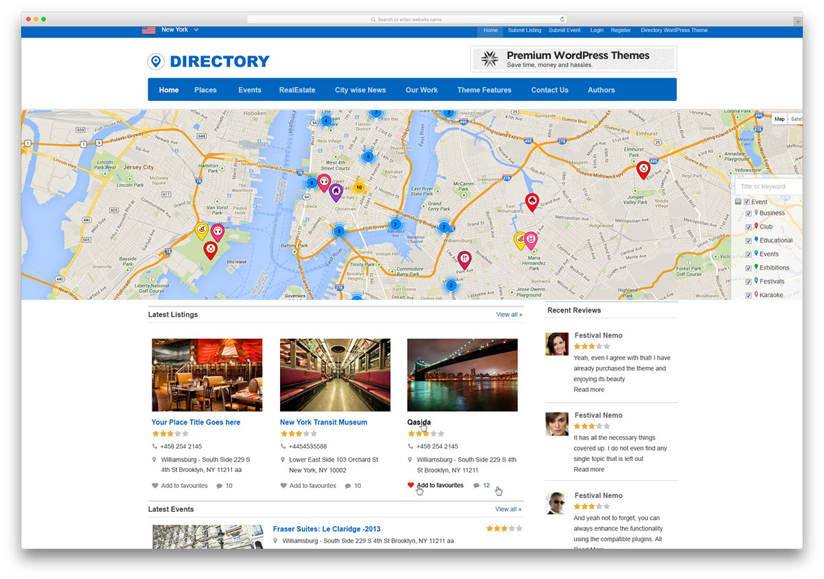 Best Selling Directory / Listing WordPress Themes | Social Media And ...