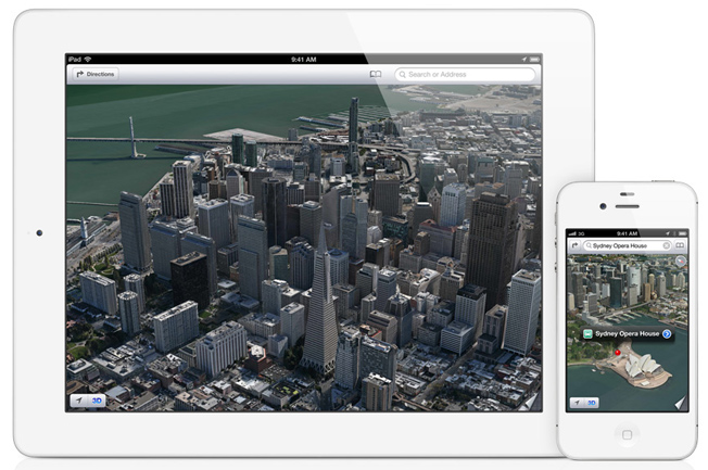 Apple's maps photo-realistic 3D flyovers images