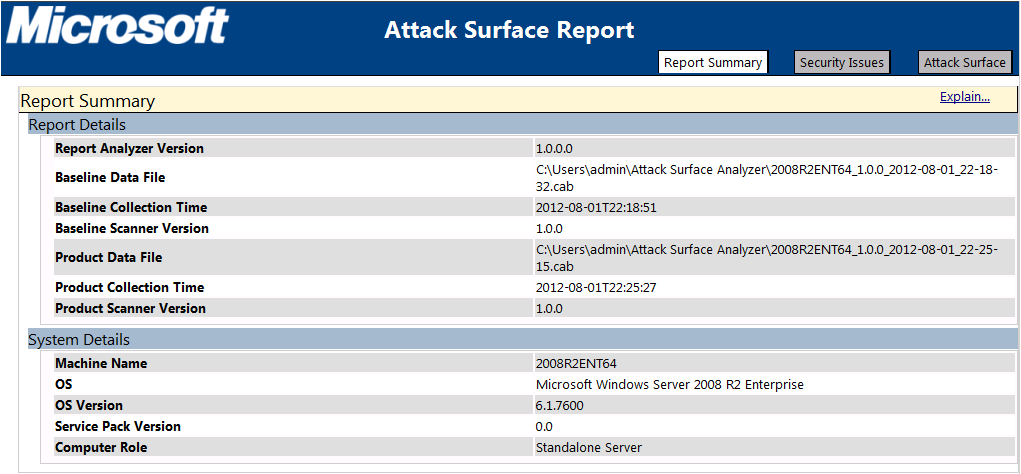 Microsoft Attack Surface Analyzer 1.0 Review
