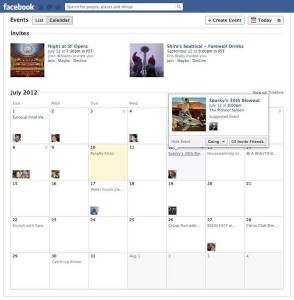 Facebook revamped it's Events feature, adding a calendar view.