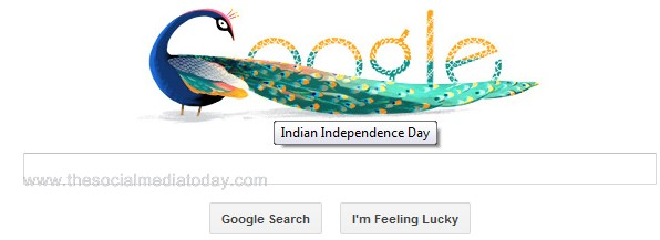 65th Indian Independence Day Google Doodle