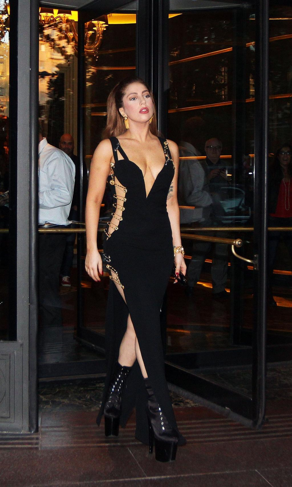 Lady Gaga sexy dress