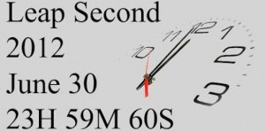 Leap second June 30 2012