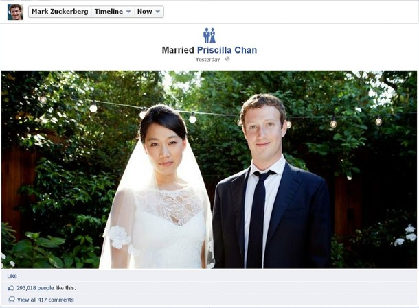 Mark Zuckerberg wedding photo