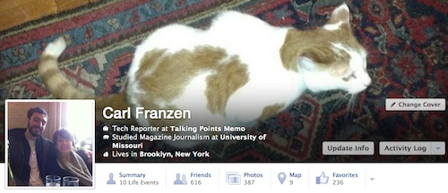 Facebook Timeline redesign sample