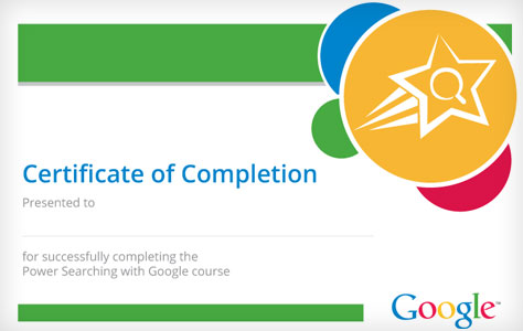Google Online Course Certificate download