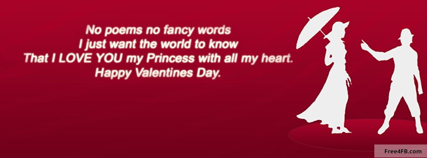 Happy Valentines Day FB timeline Cover