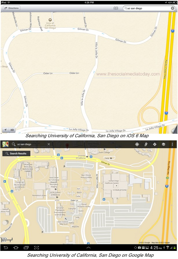 Apple Iphone 5 Map Vs Google Maps