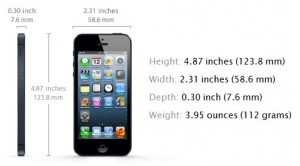 iPhone 5: Size and Weight