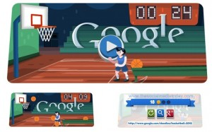 """London 2012 basketball"" Google Doodle"