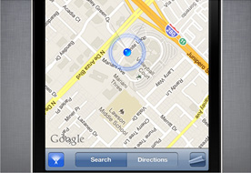 iPhone maps key shortcut