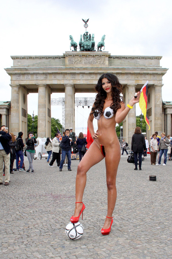 Micaela Schaefer Naked photos for EURO 2012